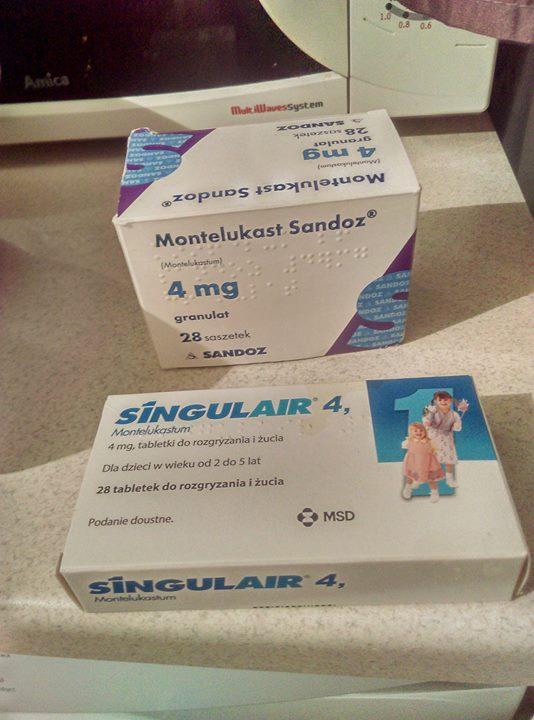 MONTELUKAST SANDOZ I SINGULAIR 4 FREE – Puławy Oddam za coś słodkiego leki montelukast…