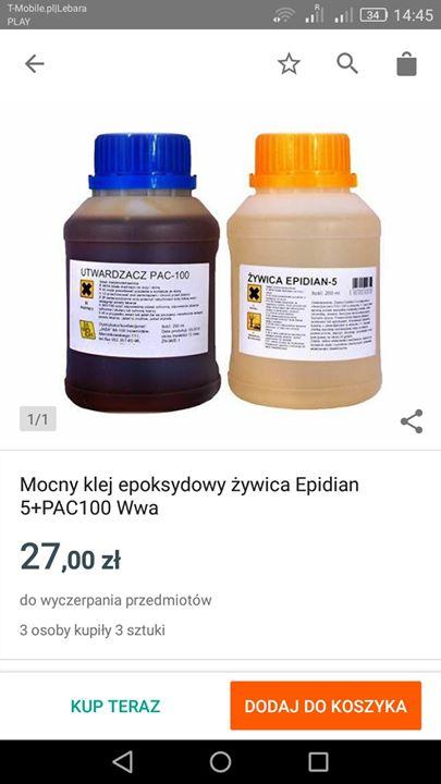 Gdzie kupię w Puławach Epidian 5 i utwardzacz PAC? Zdjęcie poglą