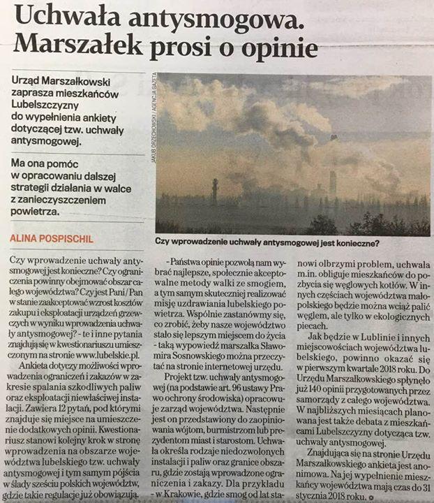 Wstęp do skutecznej walki ze smogiem