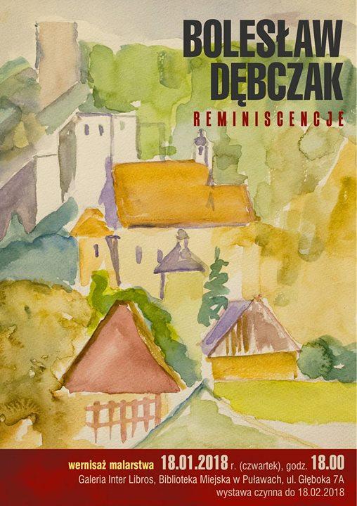 Galeria Inter Libros zaprasza 18 stycznia o godzinie 18:00 na wernisaż wystawy malarstwa Bolesława…