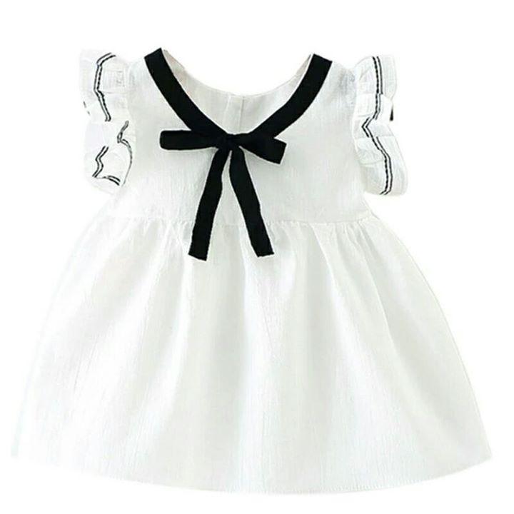 Nowa biala sukieneczka z czarna kokardka 80 27zł – 24-10 Nowa sukienka dla dziewczynki…