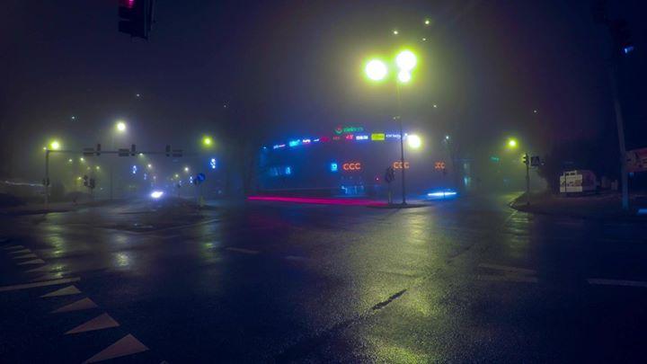 Puławy we mgle