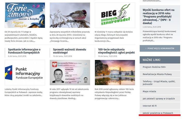 Od pewnego czasu regularnie publikujemy wyniki badań powietrza w Puławach. Na naszej stronie umieściliśmy…