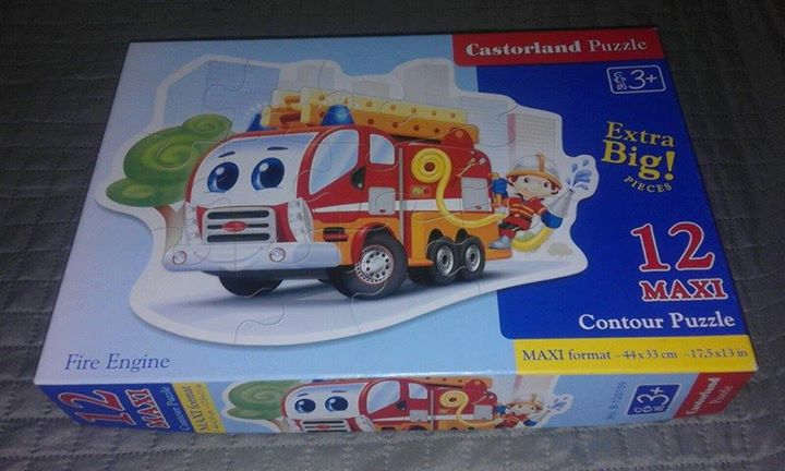 Castorland Puzzle MAXI 12 elem. wóz strażacki 8zł – Puławy Puzzle 12 maxi to…