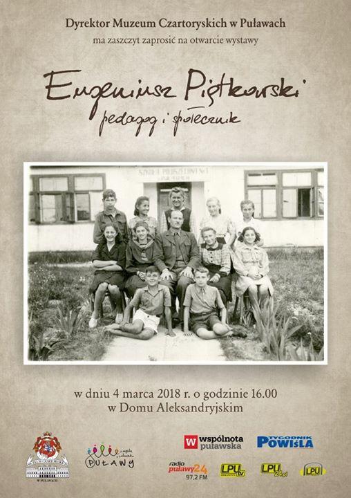 """Muzeum Czartoryskich w Puławach zaprasza na otwarcie najnowszej wystawy """"Eugeniusz Piątkowski – pedagog i…"""