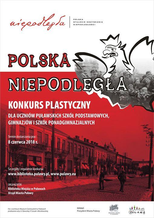 """Zapraszamy do wzięcia udziału w w konkursie plastycznym """"Polska Niepodległa"""" organizowanym w związku z…"""