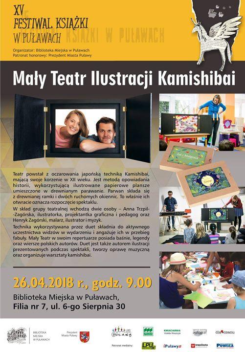 Duet jest autorem ilustracji prezentowanych podczas spektakli, tworzy oprawę muzyczną oraz organizuje warsztaty Kamishibai.…
