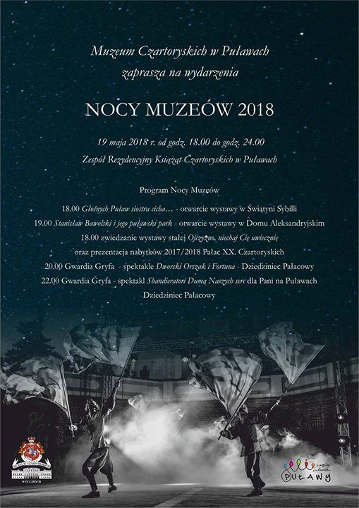 Już w najbliższą sobotę Muzeum Czartoryskich w Puławach zaprasza na Noc Muzeów 2018. Tej…
