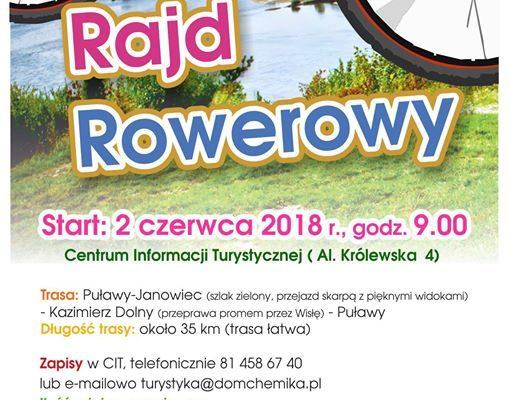 ️Centrum Informacji Turystycznej w Puławach zaprasza 2 czerwca na Rodzinny Rajd Rowerowy. ️Wycieczka rozpocznie…