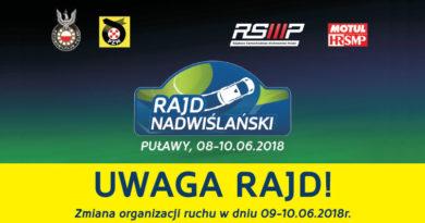 Oficjalny start Rajdu Nadwiślańskiego zaplanowano na sobotę, 9. czerwca o godzinie 14:00. Zapraszamy do…