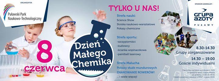 ️Wstępna zapowiedź imprezy dla najmłodszych, która odbędzie się 8 czerwca w Puławskim Parku Naukowo-Technologicznym