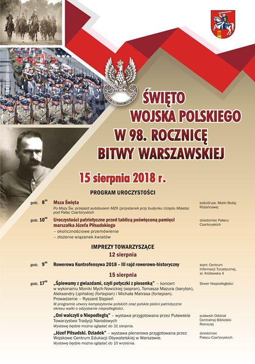 🇵🇱️15 sierpnia będziemy obchodzili Święto Wojska Polskiego oraz 98. rocznicę Bitwy Warszawskiej stoczonej w…