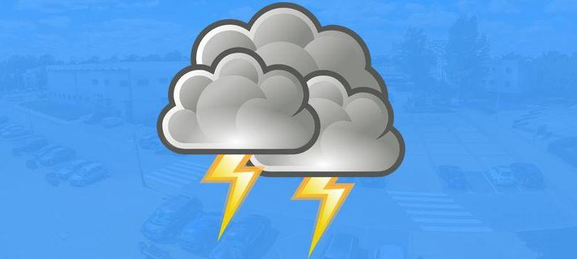 ‼️Uwaga na silny wiatr‼️IMGW-PIB prognozuje wystąpienie dzisiaj w naszym regionie burz z opadami deszczu…