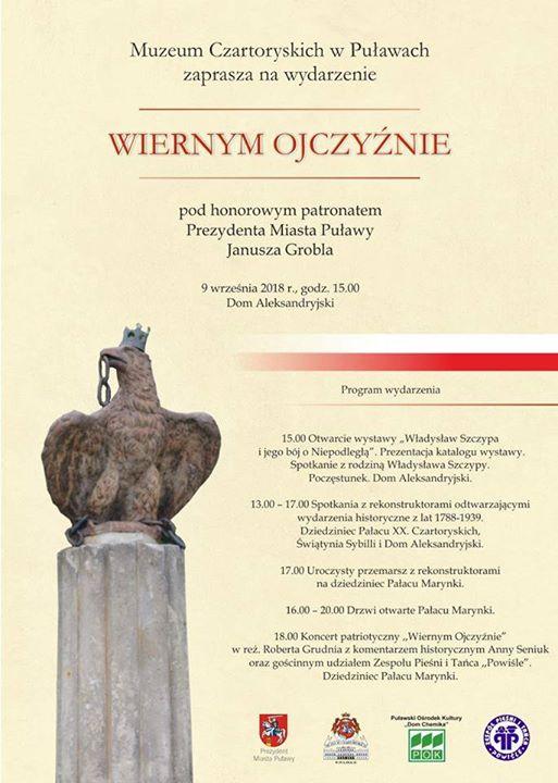 ️ Muzeum Czartoryskich w Puławach zaprasza 9 września na wyjątkowe wydarzenie historyczne. Tego dnia…