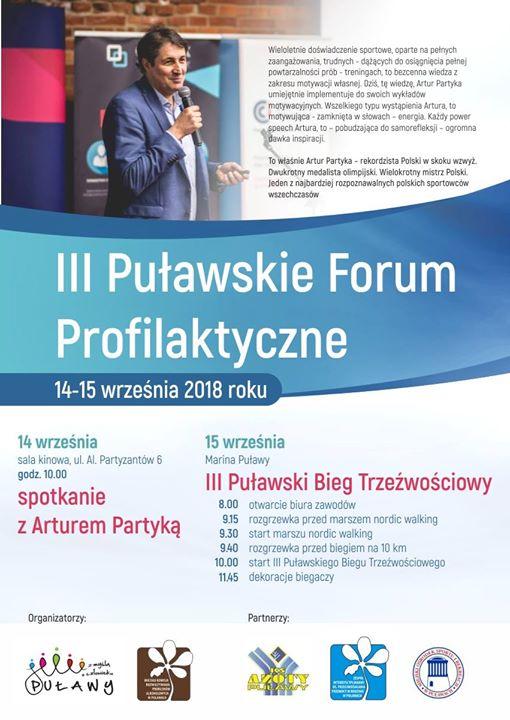 ️W dniach 14-15 września odbędzie się w III Puławskie Forum Profilaktyczne. W tym roku…