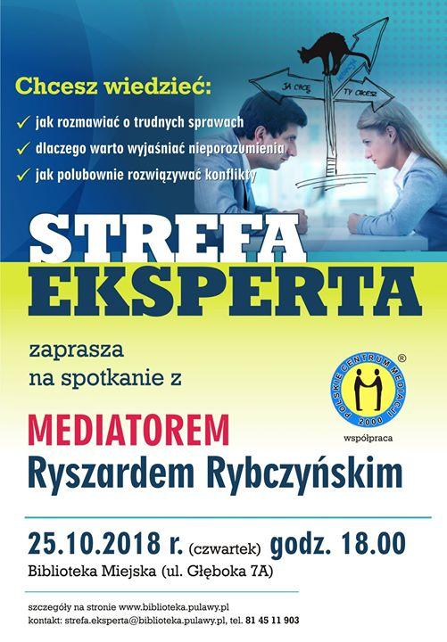 ️ 25 października, w Bibliotece Miejskiej, odbędzie się spotkanie z mediatorem Ryszardem Rybczyńskim Jak…