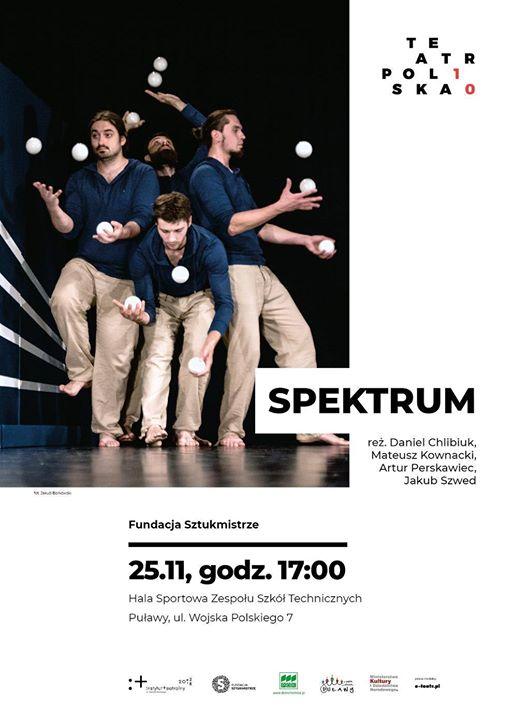 """""""Spektrum"""" to spektakl widowiskowy i żywy, łączący w sobie elementy akrobatyki, teatru, żonglerki, pantomimy…"""