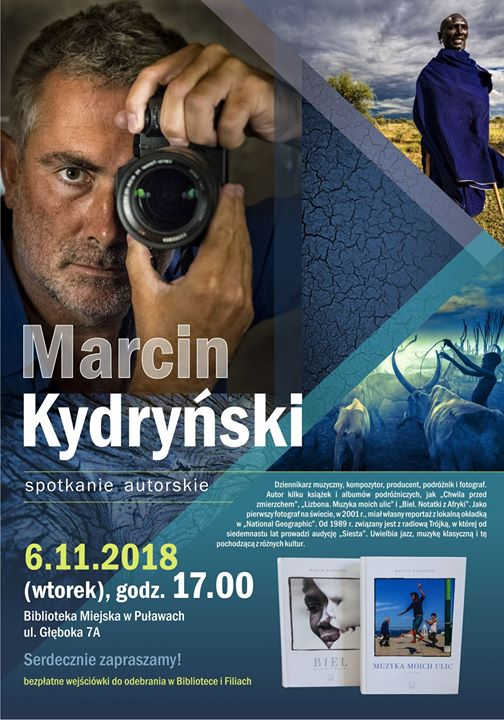 We wtorek 6 listopada w Bibliotece Miejskiej odbędzie się spotkanie autorskie Marcina Kydryńskiego, który…