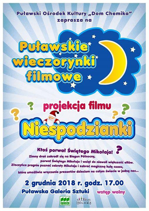 Puławskie Wieczorynki Filmowe – wydarzenie skierowane do wszystkich, którzy niedzielne wieczory lubią spędzić w…