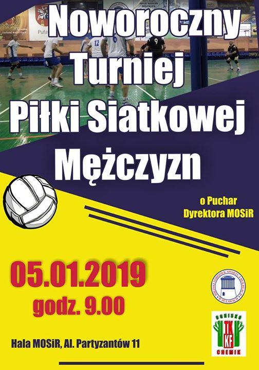 Noworoczny Turniej Piłki Siatkowej Mężczyzn odbędzie się 5 stycznia o godzinie w hali MOSiR