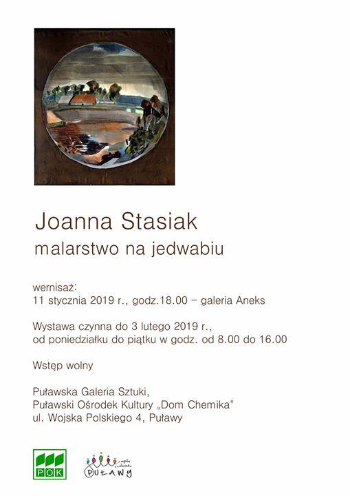 11 stycznia o godz. w Galerii Aneks odbędzie się wernisaż wystawy Joanny Stasiak pod…