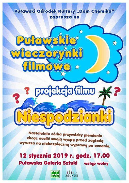 Już dzisiaj o godzinie 17:00 w Puławskiej Galerii Sztuki, odbędzie się kolejna projekcja filmuNiespodzianki…
