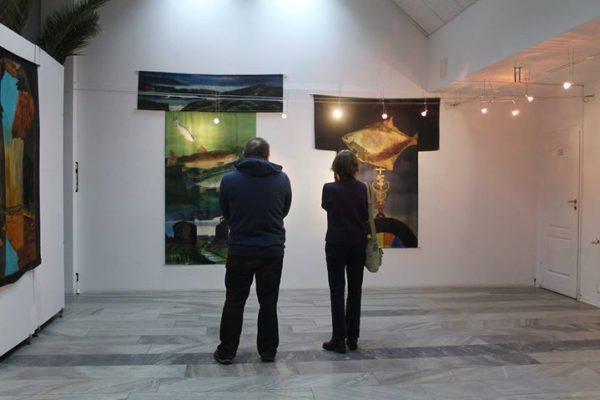 """11 stycznia odbył się wernisaż wystawy Joanny Stasiak """"Malarstwo na jedwabiu"""". Joanna Stasiak w…"""