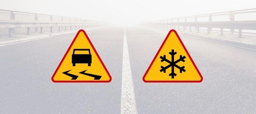 ️Dzisiaj oraz jutro różnice temperatur znów będą powodowały zagrożenie na drogach