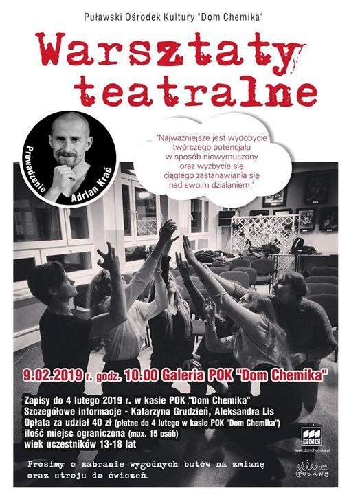 Kolejna propozycja na tegoroczne ferie, tym razem przedstawiamy warsztaty teatralne dla młodzieży w wieku…