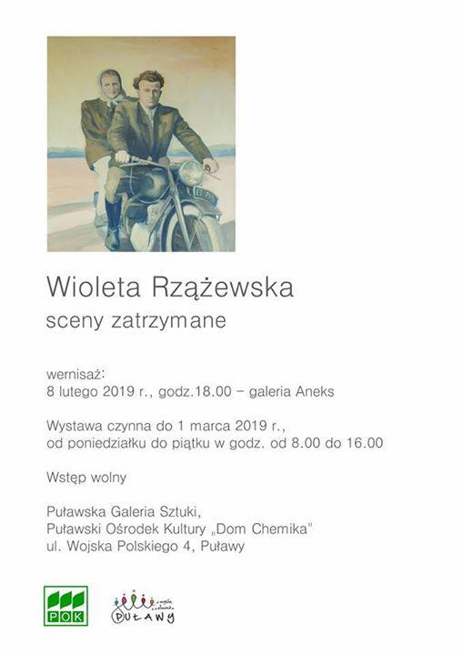 """Wernisaż wystawy Wiolety Rzążewskiej """"Malarstwo"""" odbędzie się 8 lutego o godz. w Galerii Aneks.…"""