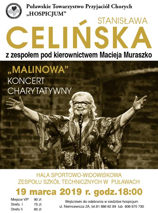 19 marca odbędzie się koncert Stanisławy Celińskiej z zespołem pod kierownictwem Macieja Muraszko. Koncert…
