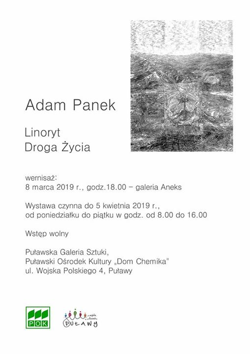"""8 marca o godz. w Galerii Aneks odbędzie się wernisaż wystawy Adama Panka """"Grafika"""".…"""