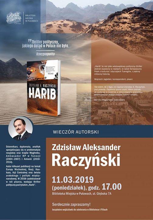 Już jutro o godzinie w Bibliotece Miejskiej w Puławach odbędzie się wieczór autorski Zdzisława…