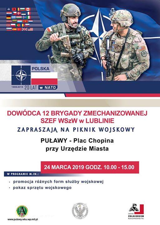 24 marca w godzinach na Placu Chopina odbędzie się piknik wojskowy. W programie promocja…