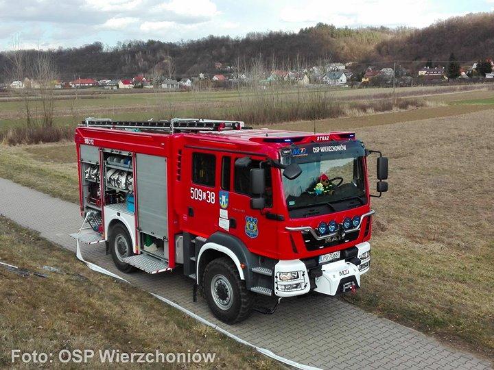 509[L]38 – MAN TGM GBARt 4×4 3/29 MotoTruck Foto: OSP KSRG Wierzchoniów