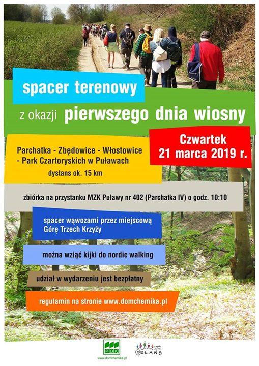 Centrum Informacji Turystycznej w Puławach zaprasza na Spacer Terenowy z okazji Pierwszego Dnia Wiosny