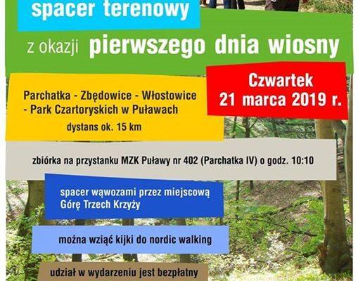 Już jutro odbędzie się spacer terenowy z okazji Pierwszego Dnia Wiosny!️️ Trasa wynosząca około…