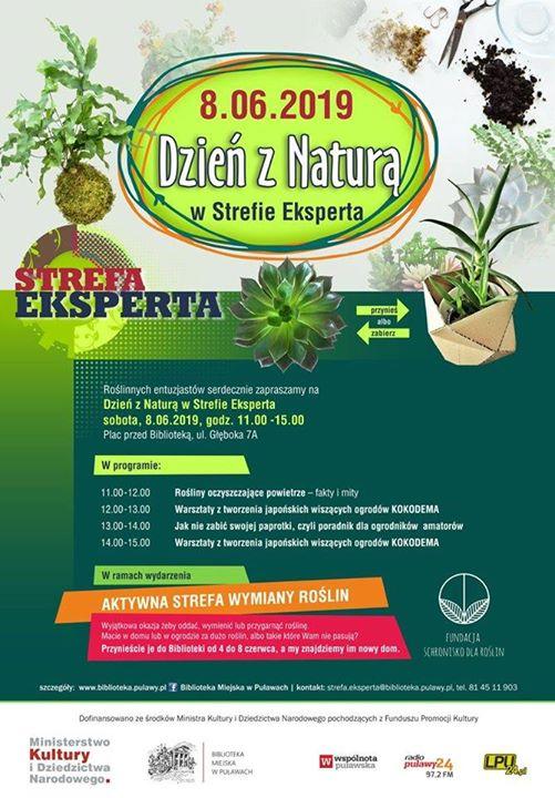 8 czerwca odbędzie się Dzień z Naturą w Strefie Ekperta Biblioteki Miejskiej w Puławach.…