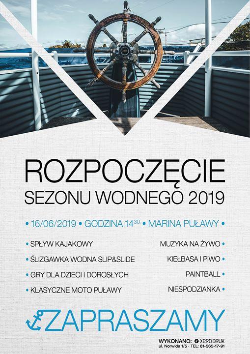 ️️MOSiR Puławy zaprasza 16 czerwca od godziny 14:30 do Mariny Puławy na otwarcie sezonu…