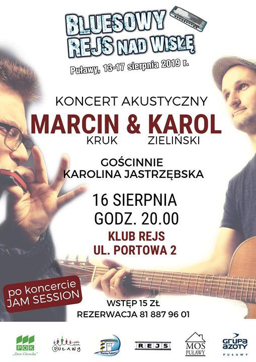 Bluesowy Rejs nad Wisłę w kolejnej odsłonie. 16 sierpnia wystąpi grupa Marcin&Karol (ft. Karolina…