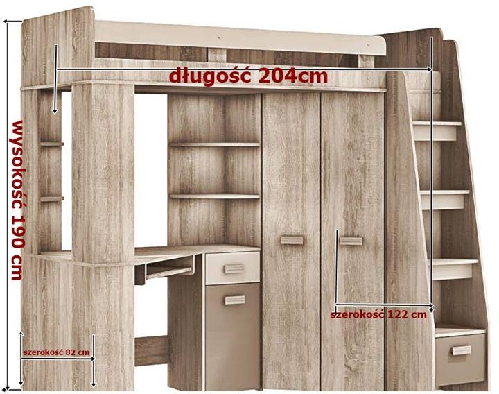 antresola prawa 950zł – Polska Do sprzedania mam Łóżko piętrowe dziecięce ANTRESOLA z szafą…