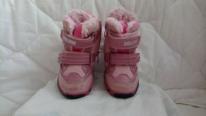 Buty dziewczęce zimowe, rozmiar 23. 11zł – Puławy Stan dobry. Minusem jest zdarcie na…