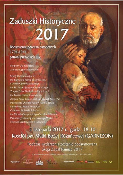 Rok 2017 do roku gen. Tadeusza Kościuszki i patrona Puław św. Brata Alberta – …