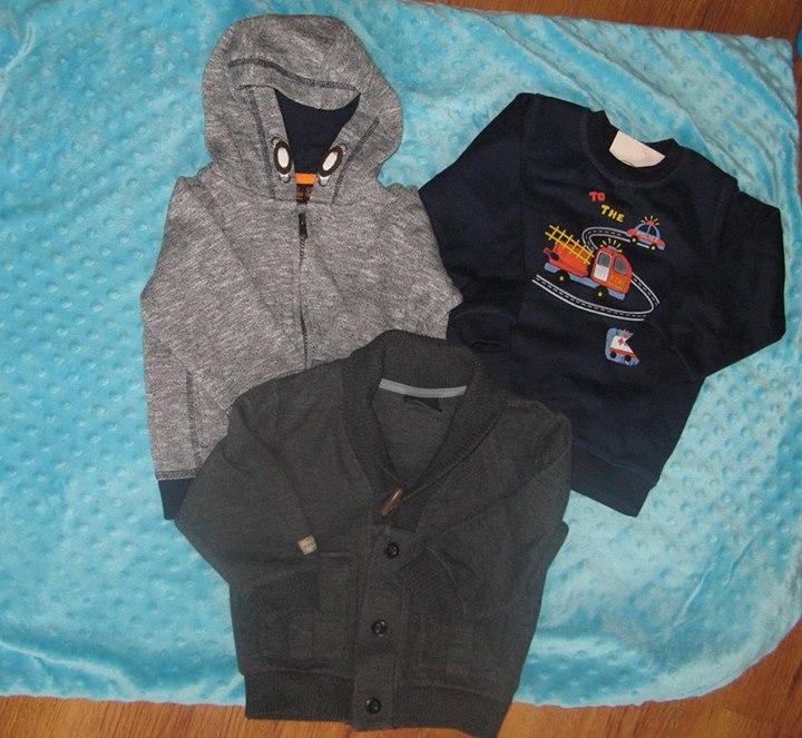 Zestaw ubrań rozmiar 86 / 12-18 miesięcy 20zł – Puławy 1. Bluza z kapturem…