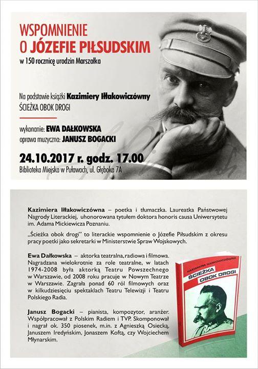 Z okazji obchodów Roku Józefa Piłsudskiego Biblioteka Miejska serdecznie zaprasza we wtorek 24 października…