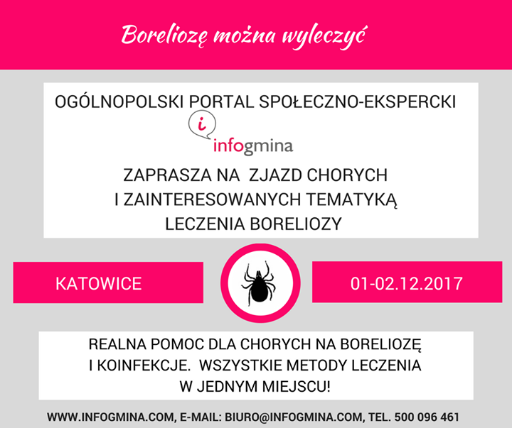 """Ogłoszenie grzecznościowe. Portal społeczno-ekspercki serdecznie zaprasza do udziału w ogólnopolskim zjeździe pod hasłem """"Boreliozę…"""
