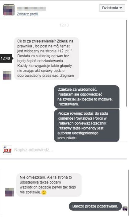 PUŁAWY 112 ZOSTANĄ POZWANE DO SĄDU Prowadząc jakikolwiek serwis, fanpage czy stronę www trzeba…