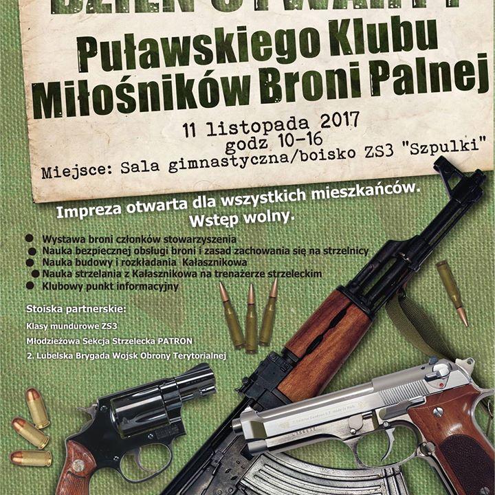 Puławski Klub Miłośników Broni Palnej zaprasza 11 listopada na prezentację swoich zbiorów