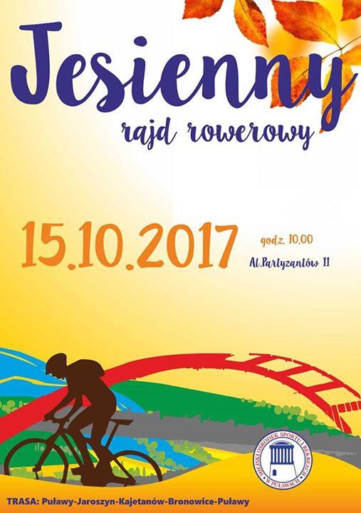Mosir Puławy zaprasza w najbliższą niedzielę na Jesienny Rajd Rowerowy