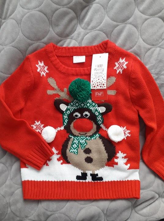 Świąteczny sweterek 40zł – Puławy Sprzedam nowy sweterek na dziecko 2-3 lata, rozmiar na…